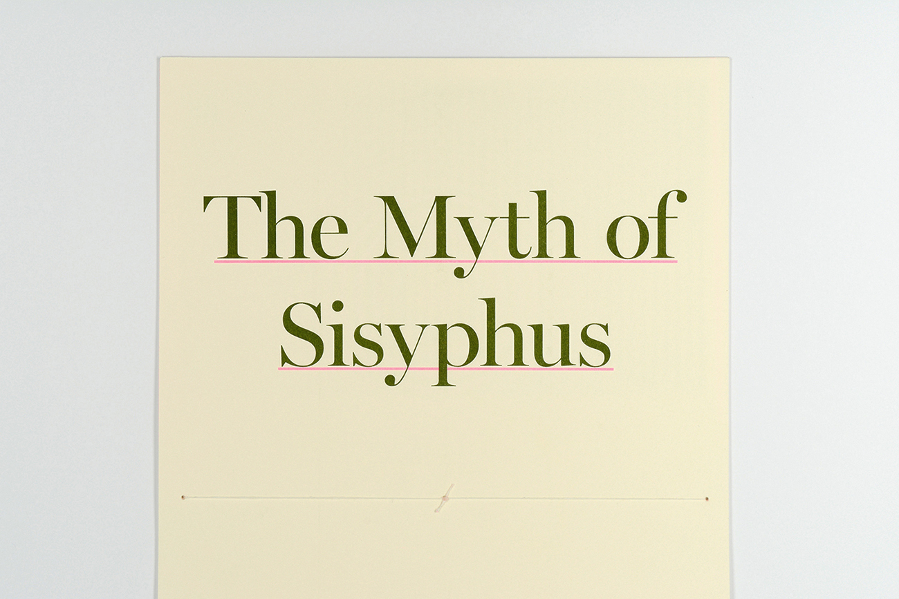 "the myth of sisyphus brian kall the final portion of my investigation into nihilism was a booklet that tied together work from the previous two projects the essay ""the myth of sisyphus"""